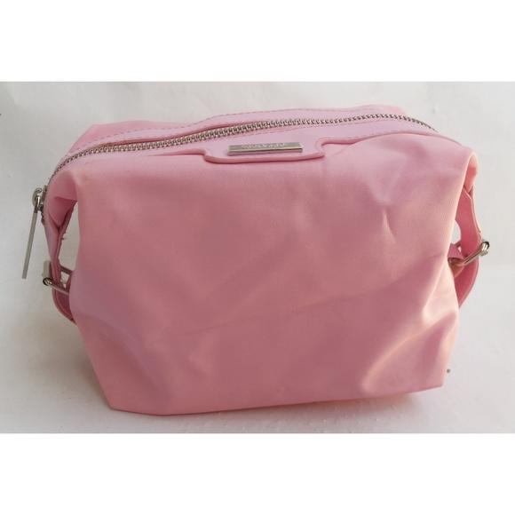 3a46fd75e5e8 Versace Parfums Baby Pink Cosmetic Makeup Bag NWT